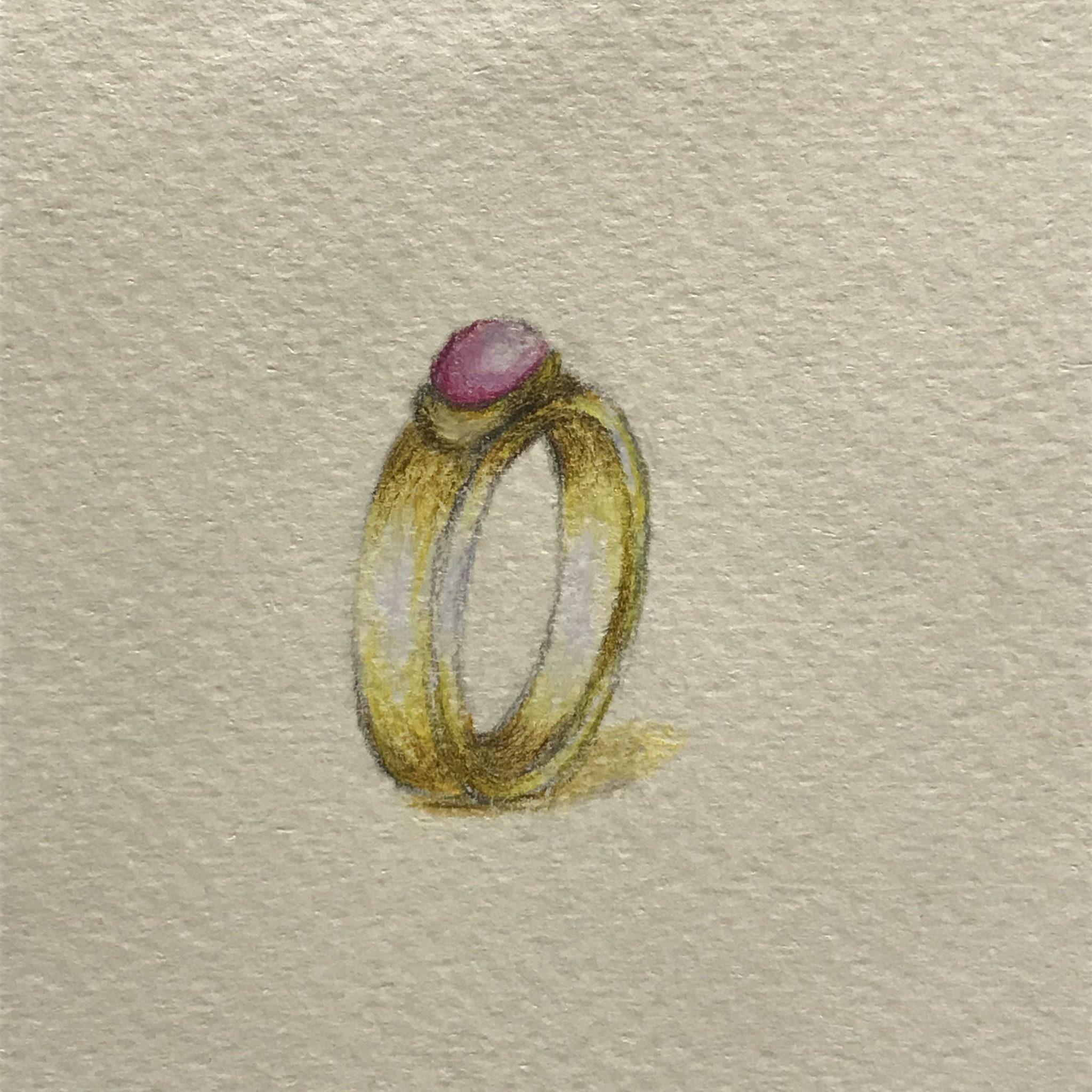Het Juweel: ring met roze toermalijn ontwerp