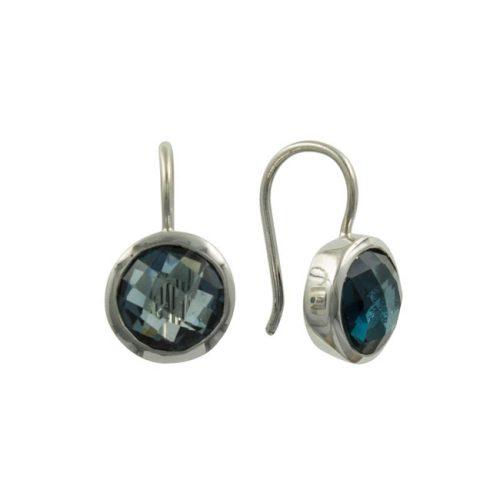 1a. oorbellen zilver topaas