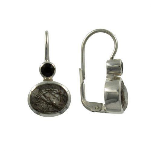 3a. oorbellen zilver rutielkwarts
